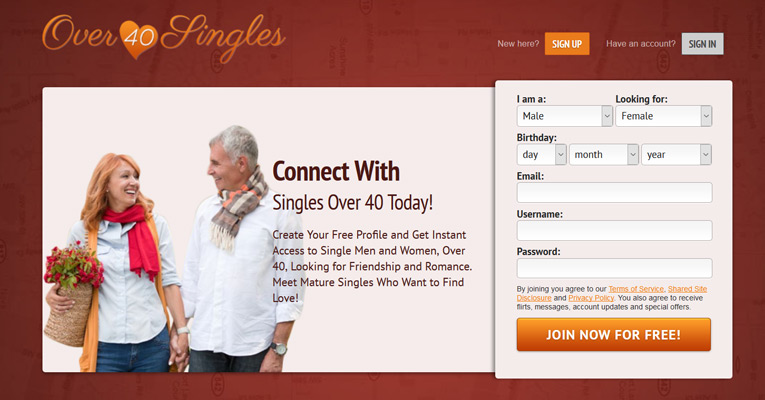Websites for dating over 40