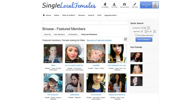 local single females